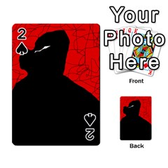 Red and black abstract design Playing Cards 54 Designs