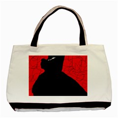 Red and black abstract design Basic Tote Bag