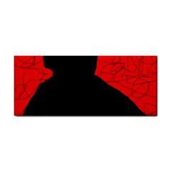Red and black abstract design Hand Towel