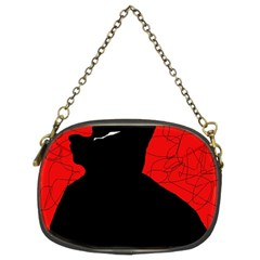 Red and black abstract design Chain Purses (Two Sides)