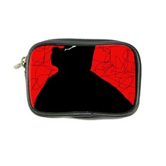 Red and black abstract design Coin Purse