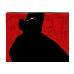Red and black abstract design Cosmetic Bag (XL)