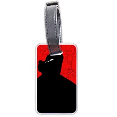 Red and black abstract design Luggage Tags (One Side)