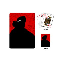 Red and black abstract design Playing Cards (Mini)
