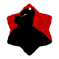 Red and black abstract design Ornament (Snowflake)