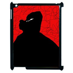 Red and black abstract design Apple iPad 2 Case (Black)