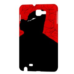 Red and black abstract design Samsung Galaxy Note 1 Hardshell Case