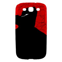 Red and black abstract design Samsung Galaxy S III Hardshell Case
