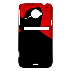Red and black abstract design HTC Evo 4G LTE Hardshell Case