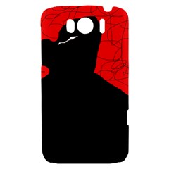 Red and black abstract design HTC Sensation XL Hardshell Case