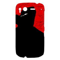 Red and black abstract design HTC Desire S Hardshell Case