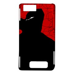 Red and black abstract design Motorola DROID X2