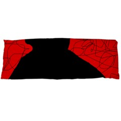 Red And Black Abstract Design Body Pillow Case Dakimakura (two Sides)