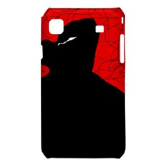 Red and black abstract design Samsung Galaxy S i9008 Hardshell Case