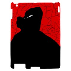 Red and black abstract design Apple iPad 2 Hardshell Case
