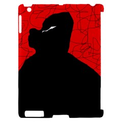 Red and black abstract design Apple iPad 2 Hardshell Case (Compatible with Smart Cover)