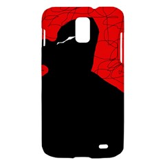 Red and black abstract design Samsung Galaxy S II Skyrocket Hardshell Case