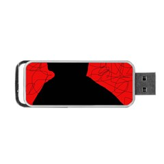 Red and black abstract design Portable USB Flash (Two Sides)