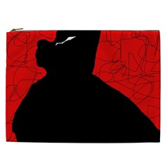 Red and black abstract design Cosmetic Bag (XXL)