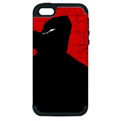 Red and black abstract design Apple iPhone 5 Hardshell Case (PC+Silicone)
