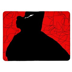 Red and black abstract design Kindle Fire (1st Gen) Flip Case
