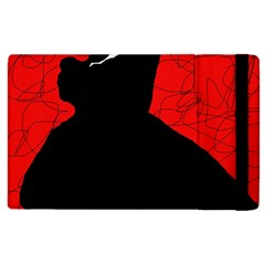 Red and black abstract design Apple iPad 2 Flip Case