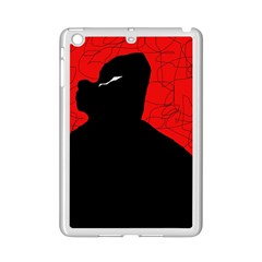 Red and black abstract design iPad Mini 2 Enamel Coated Cases