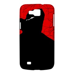 Red and black abstract design Samsung Galaxy Premier I9260 Hardshell Case