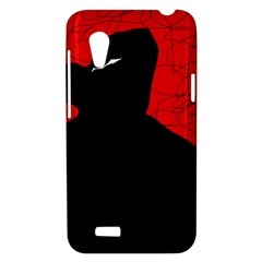 Red and black abstract design HTC Desire VT (T328T) Hardshell Case