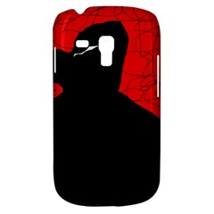 Red and black abstract design Samsung Galaxy S3 MINI I8190 Hardshell Case