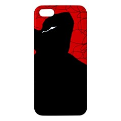 Red and black abstract design Apple iPhone 5 Premium Hardshell Case