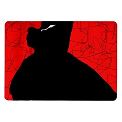 Red and black abstract design Samsung Galaxy Tab 10.1  P7500 Flip Case