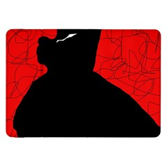 Red and black abstract design Samsung Galaxy Tab 8.9  P7300 Flip Case