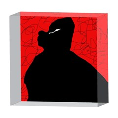 Red and black abstract design 5  x 5  Acrylic Photo Blocks