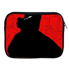 Red and black abstract design Apple iPad 2/3/4 Zipper Cases