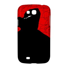 Red and black abstract design Samsung Galaxy Grand GT-I9128 Hardshell Case