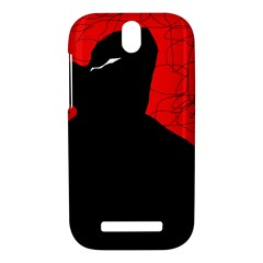 Red and black abstract design HTC One SV Hardshell Case