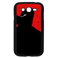 Red and black abstract design Samsung Galaxy Grand DUOS I9082 Case (Black)
