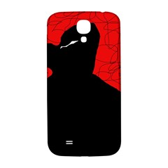 Red and black abstract design Samsung Galaxy S4 I9500/I9505  Hardshell Back Case