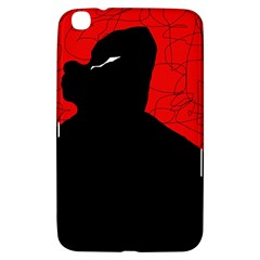 Red and black abstract design Samsung Galaxy Tab 3 (8 ) T3100 Hardshell Case