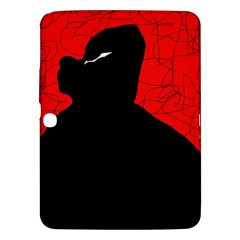 Red and black abstract design Samsung Galaxy Tab 3 (10.1 ) P5200 Hardshell Case