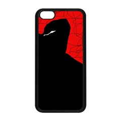 Red and black abstract design Apple iPhone 5C Seamless Case (Black)