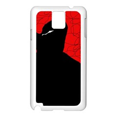 Red and black abstract design Samsung Galaxy Note 3 N9005 Case (White)