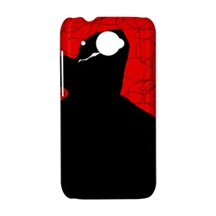 Red and black abstract design HTC Desire 601 Hardshell Case