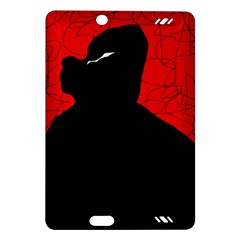 Red and black abstract design Amazon Kindle Fire HD (2013) Hardshell Case