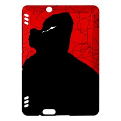 Red and black abstract design Kindle Fire HDX Hardshell Case