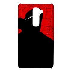 Red and black abstract design LG G2