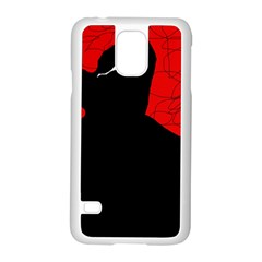 Red and black abstract design Samsung Galaxy S5 Case (White)