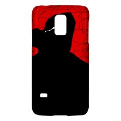 Red and black abstract design Galaxy S5 Mini