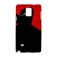 Red and black abstract design Samsung Galaxy Note 4 Hardshell Case